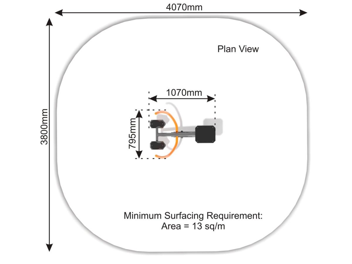 Rowing Machine plan view