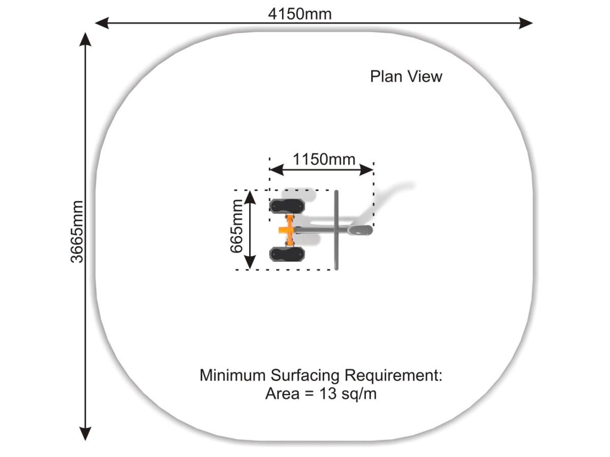 Stepper – Stair Step Machine plan view