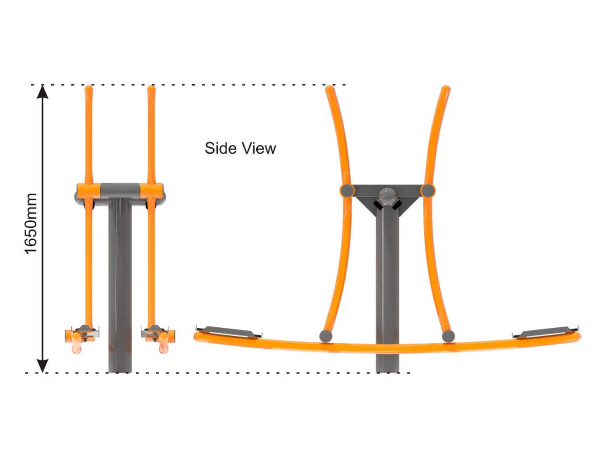 Double Skier Outdoor Cross Trainer side view