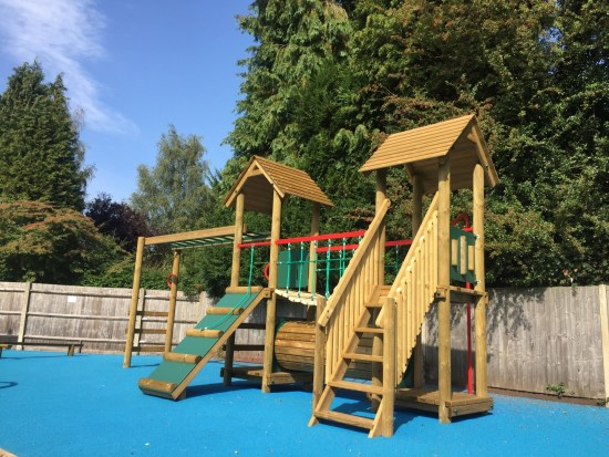 Litcham 2 play tower with monkey bars