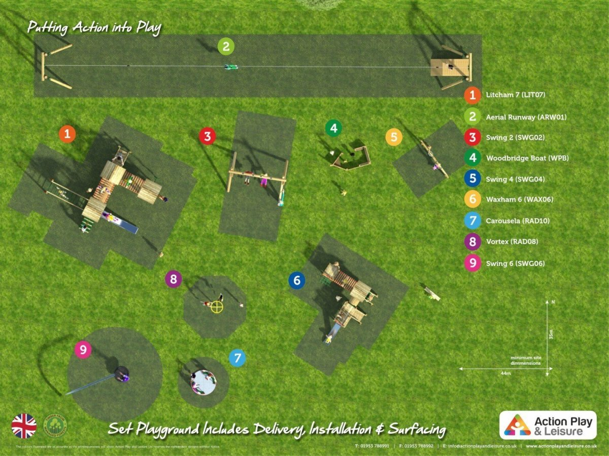 Playground  Cost – Example 11 plan view