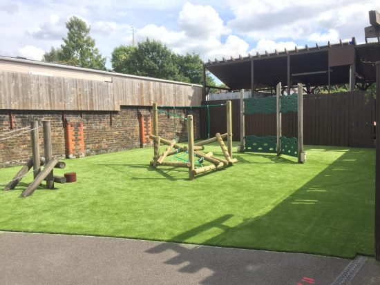 Forest Stack Seven and artificial grass