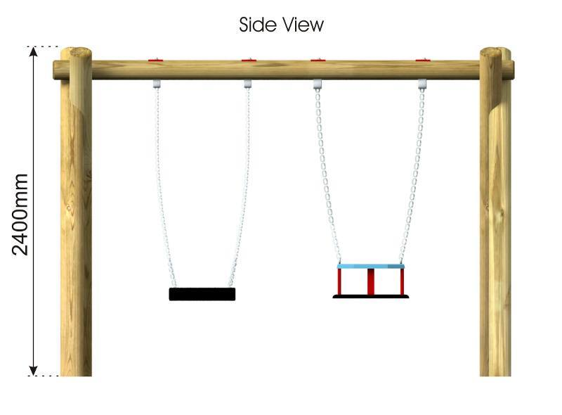 Cradle & Flat Swing 8 side view