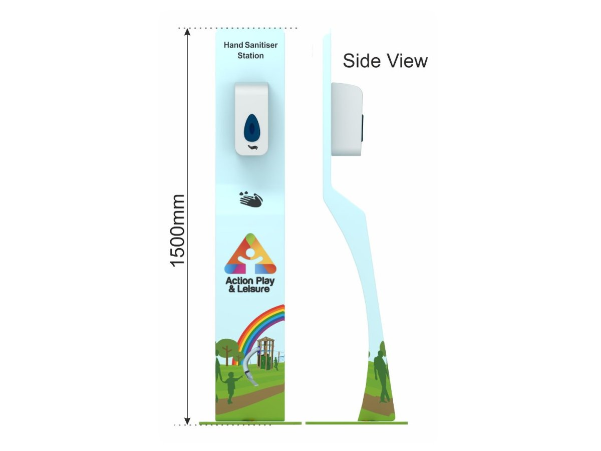 Freestanding Hand Sanitiser Dispenser side view