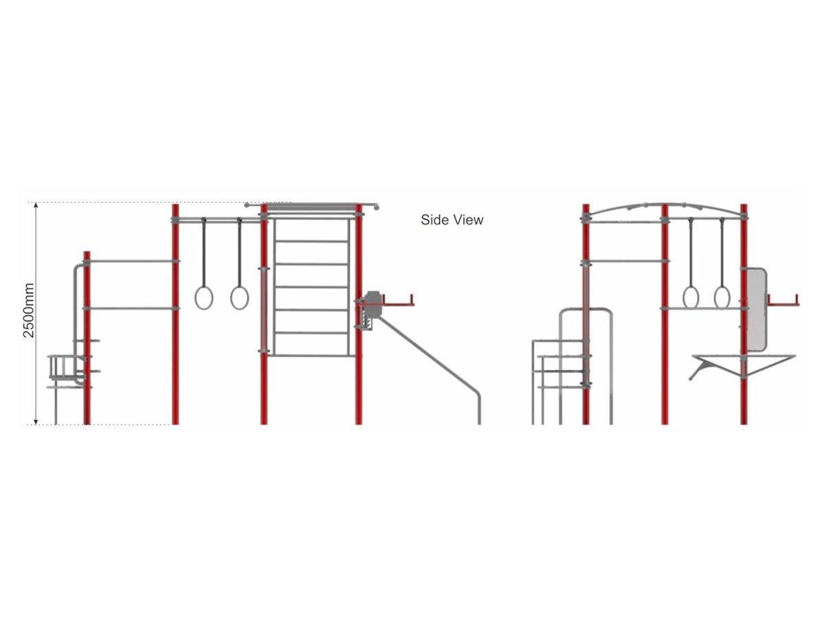Street Workout Callisthenics – Set 4 side view
