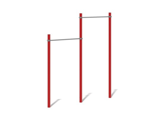 Double Pull Up Bars with different set heights