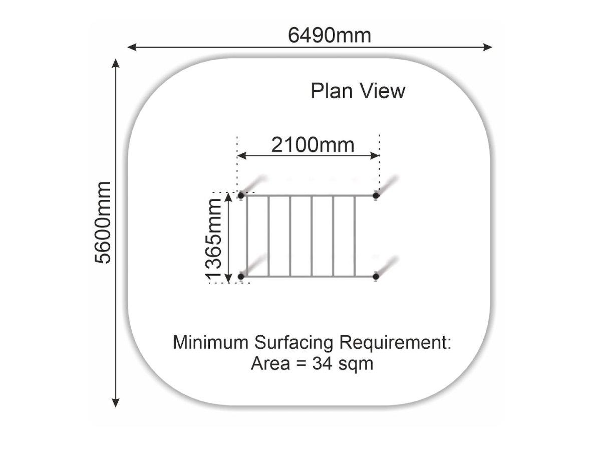 Horizontal Ladder plan view