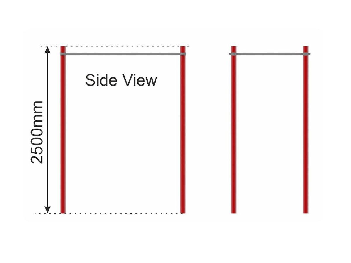 Horizontal Ladder side view