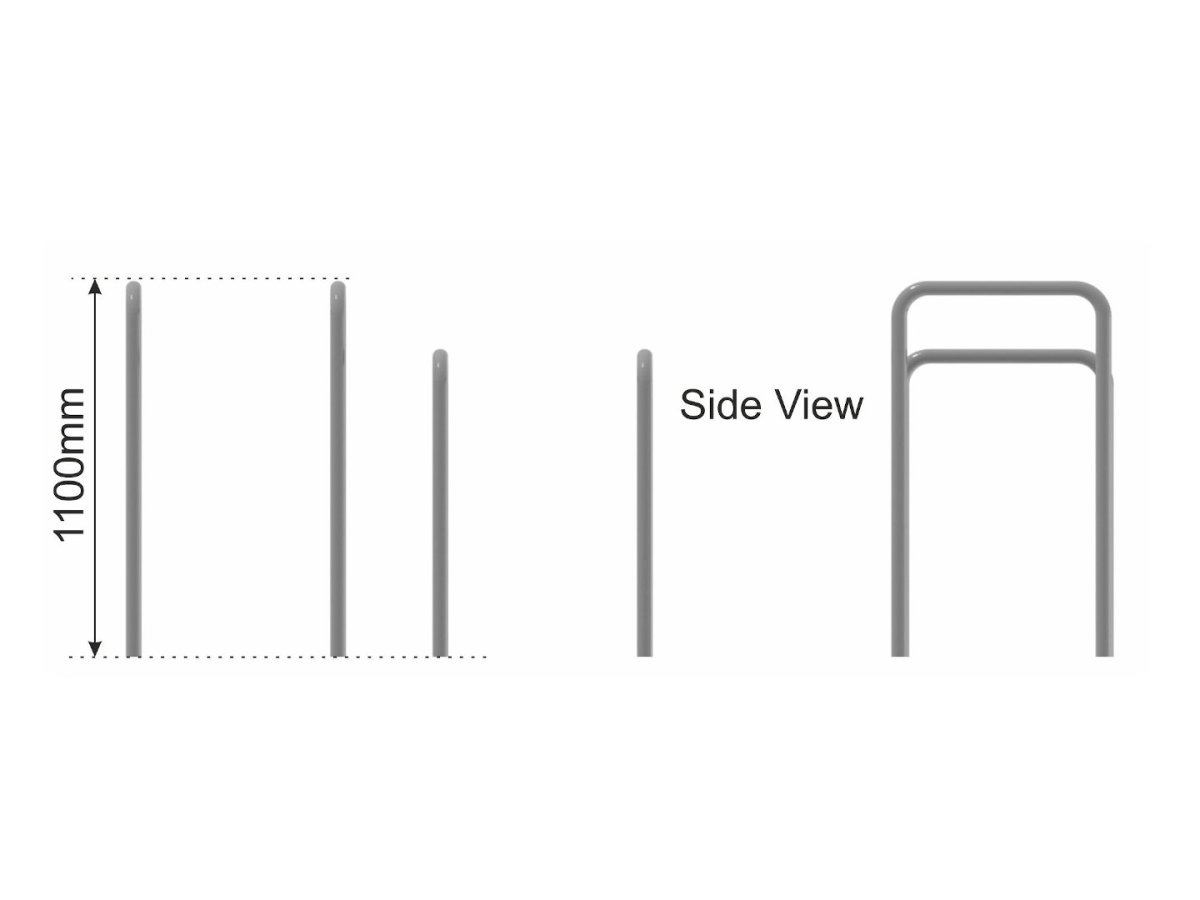 Low Dip Bars   Parallel Bars side view
