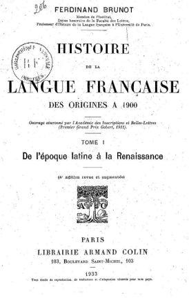 Histoire langue française