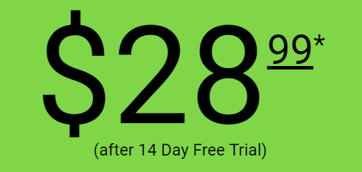 $28.99 after 14 day free trial