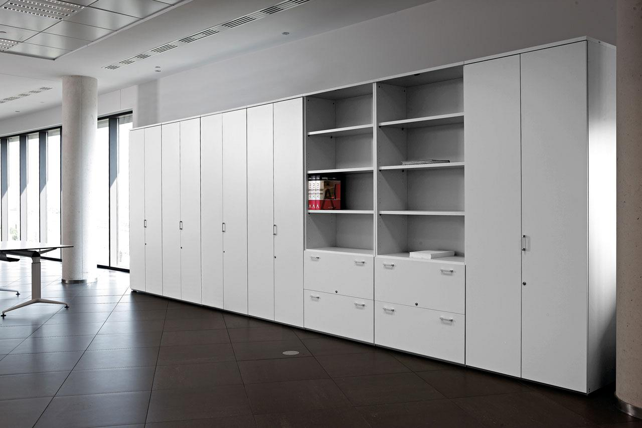Modular storage operative office filing program with