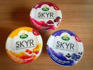 Die verschiedenen Geschmacksrichtungen von Skyr