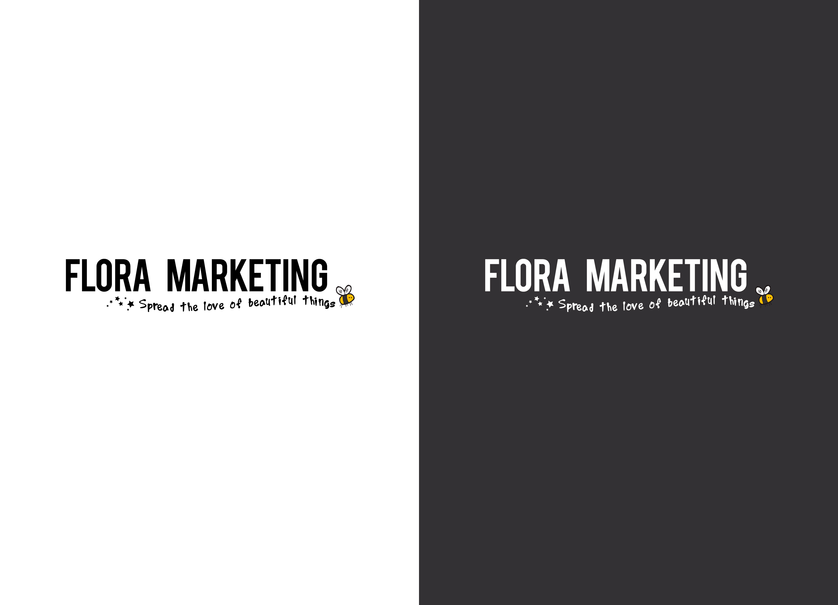logo ontwerp design Flora Marketing door reclamebureau Activates uit Sassenheim