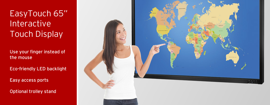 "EasyTouch 65"" Interactive Display Touchscreens"