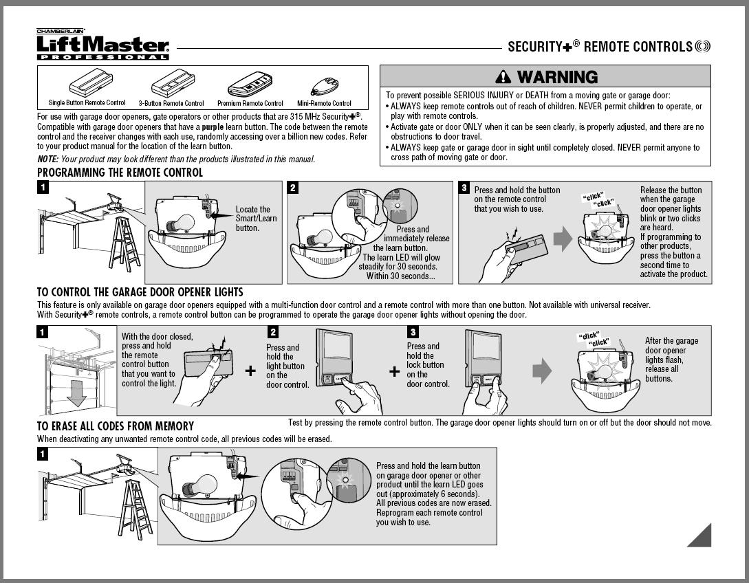 Image Result For How To Change Code On Liftmaster Garage Door Opener