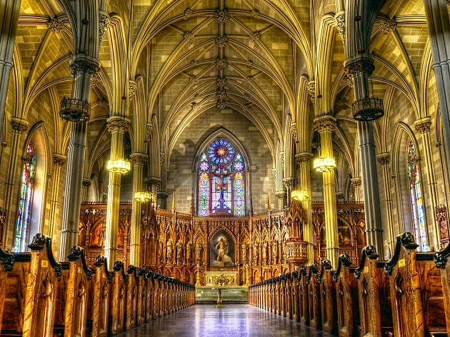 St. Patrick's Cathedral Inside View, New York City