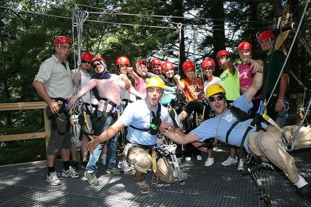 Hunter Mountain Ziplining Group Pic