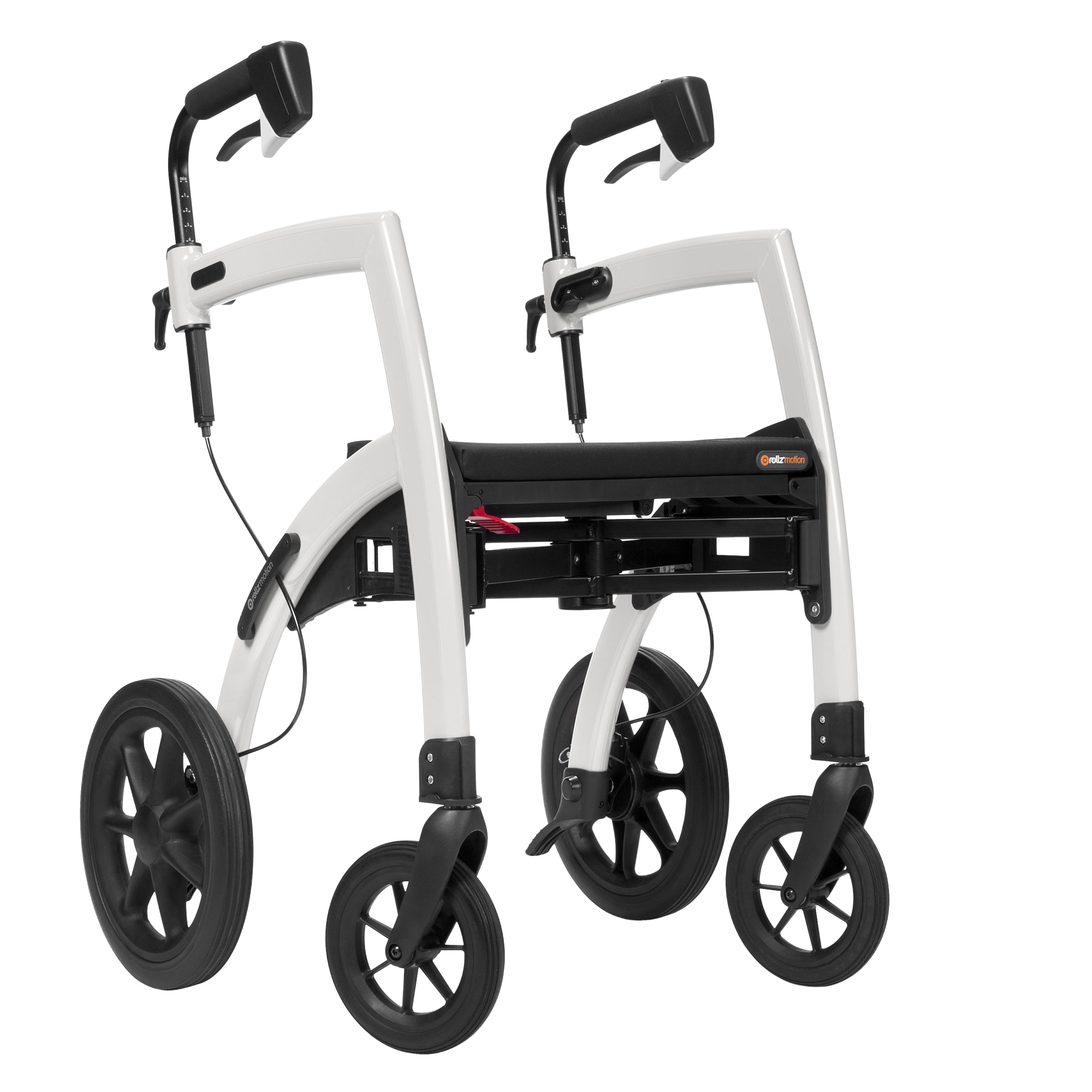 convertible walker transport chair stool with back rollz motion two in one rollator wheelchair