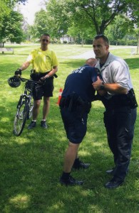 Weapons retention training for police bike officers