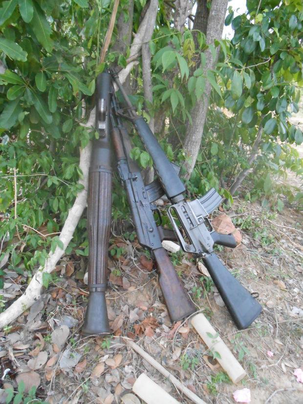 RPG, AK-47, and M-16