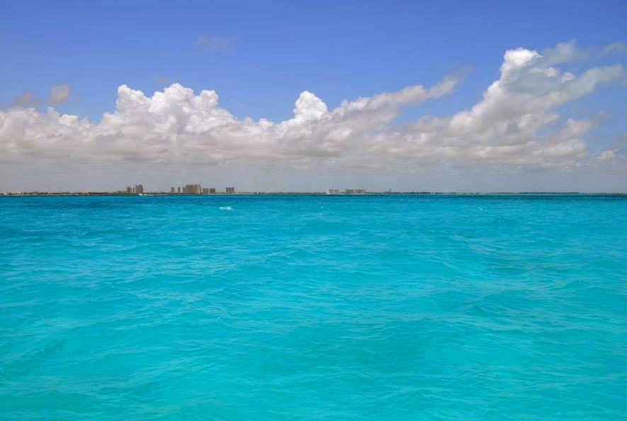 View of Isla Mujeres from our sailboat