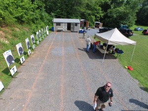 Drone footage of me checking out the line before teaching my Extreme Close Quarters Shooting class at FPF Training