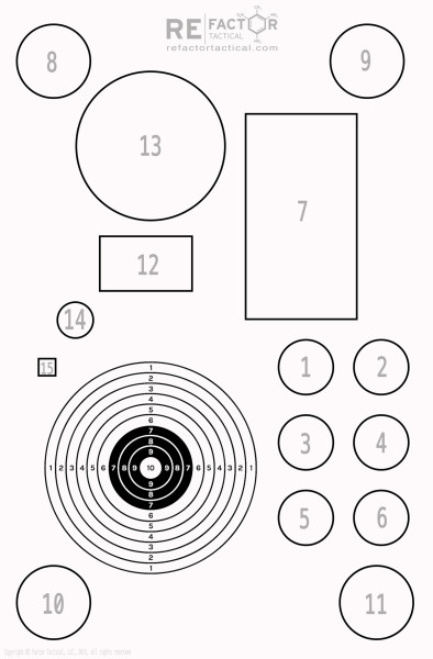 Shooting Drill- RE Factor Tactical Shooter Standard