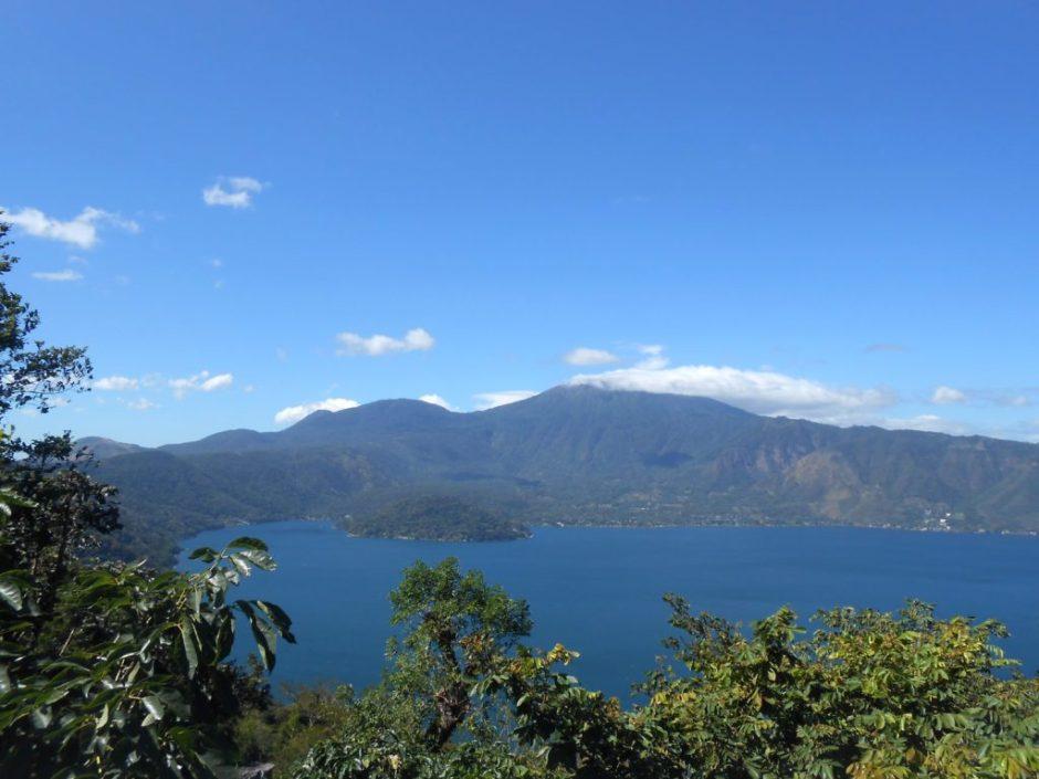 Volcanic crater lake outside of San Salvador.