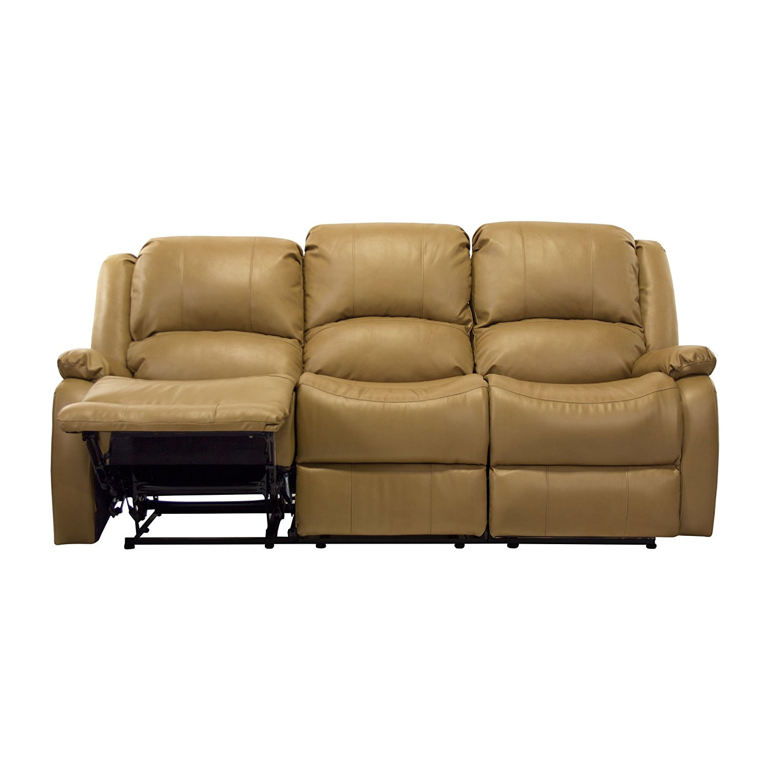 triple reclining sofa most comfortable bed in the world 80 quot recliner w drop down console rv wall