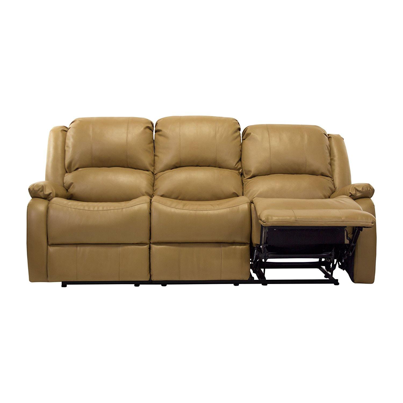 triple reclining sofa lexington bed 80 quot recliner w drop down console rv wall