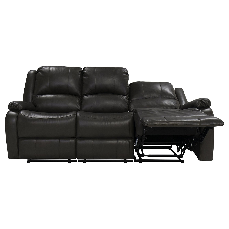 triple reclining sofa bed color orange 80 quot recliner rv w drop down console wall