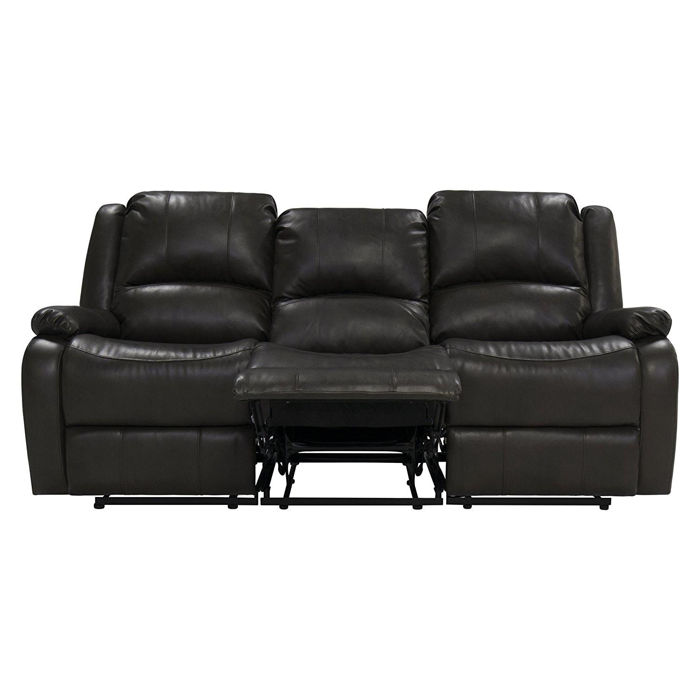 triple reclining sofa leggett and platt sleeper repair kit 80 quot recliner rv w drop down console wall