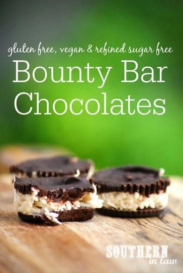 Gluten Free and Sugar Free Bounty Bar Chocolates Recipe