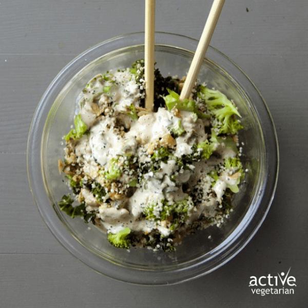 Tahini Kale Protein Bowl