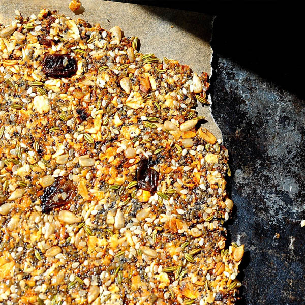 Seeded Rosemary Crackers