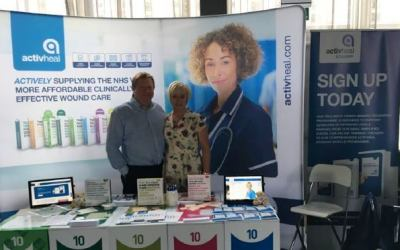 The ActivHeal team attend the Leg Ulcers: Right Care, Right Time event at the Liverpool Titanic Hotel.