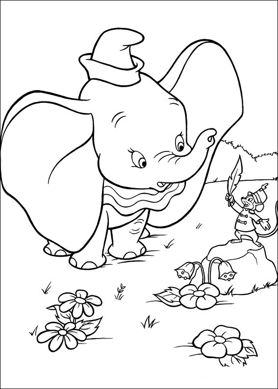 Dibujos Faciles para Dibujar Colorear y Pintar Dumbo 1