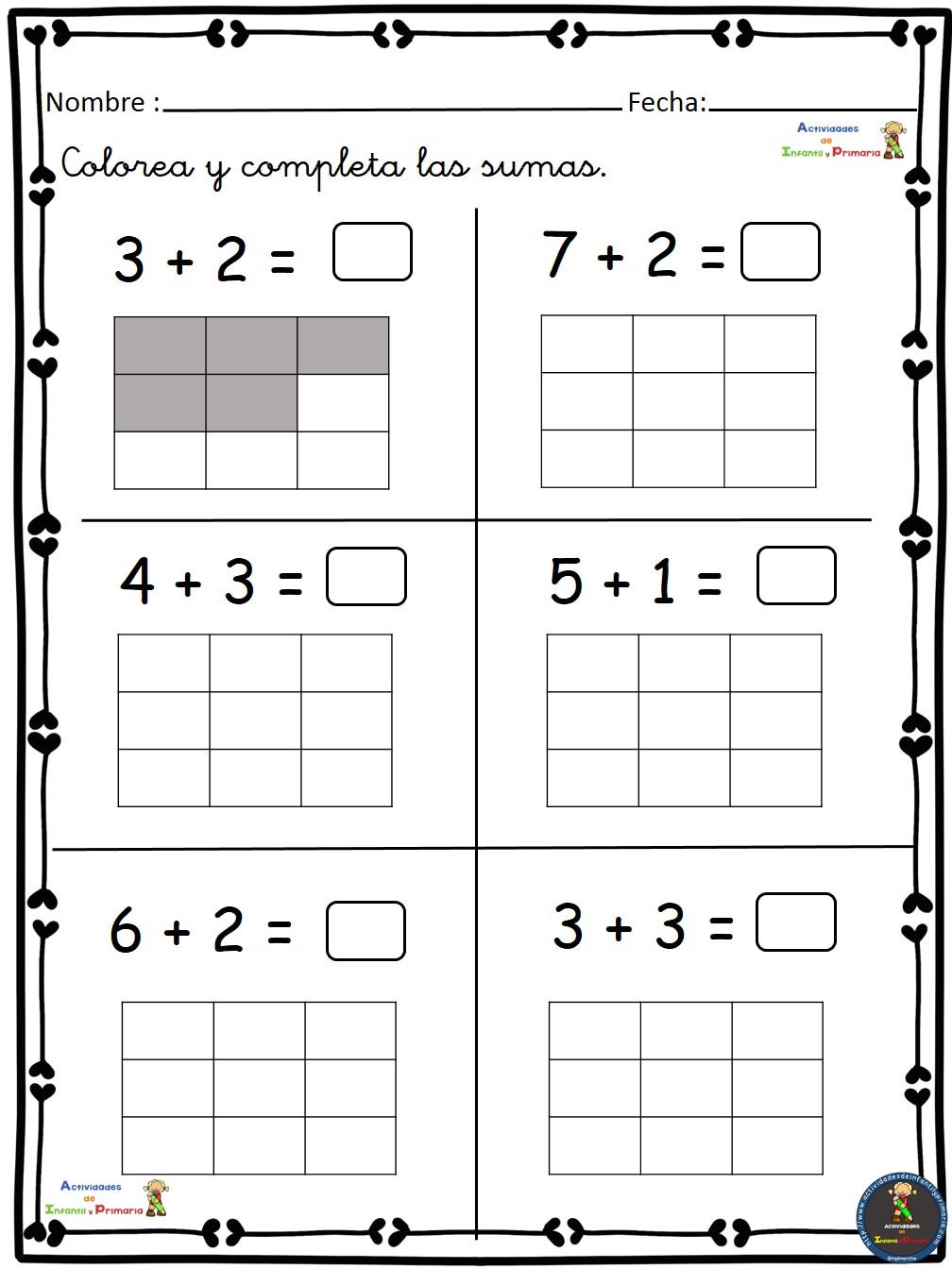 Ejercicios de Matemáticas conteo-sumas-restas Primero Primaria (3)