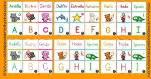 Estupendo Juego de Dominó para practicar el abecedario