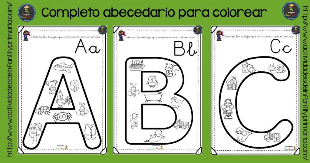 Alfabeto Para Colorear: Completo Alfabeto Para Colorear