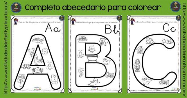 Completo Alfabeto Para Colorear
