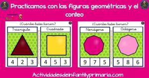 Practicamos con las figuras geométricas y el conteo