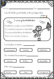 Fichas para trabajar la comprensión lectora - Imagenes Educativas