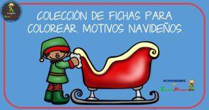 Colección de fichas para colorear- Motivos Navidad