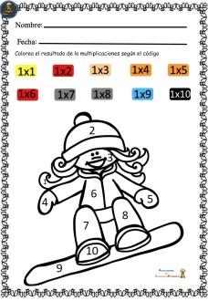 Calcula Aprende Y Colorea Vamos A Trabajar Las Tablas De