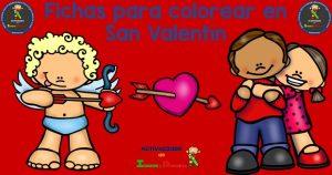 Fichas para colorear en San Valentín