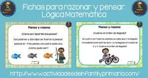 Fichas para razonar y pensar. Lógica Matemática