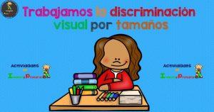 Trabajamos la discriminación visual por tamaños