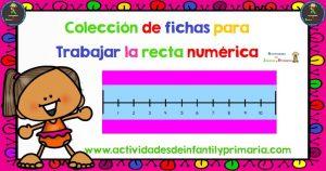 Colección de fichas para trabajar la recta numérica